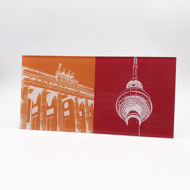 ART-DOMINO® BY SABINE WELZ Berlin - Brandenburger Tor + Fernsehturm