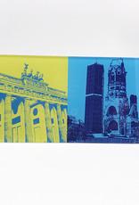 ART-DOMINO® by SABINE WELZ Berlin - Brandenburger Tor + Kaiser-Wilhelm-Gedächtniskirche