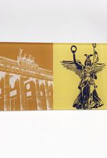 ART-DOMINO® by SABINE WELZ Berlin - Brandenburger Tor + Siegessäule