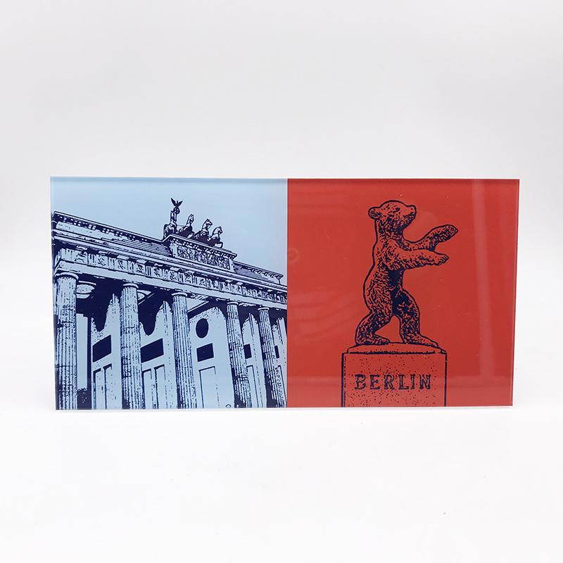 ART-DOMINO® BY SABINE WELZ Berlin - Brandenburger Tor + Berliner Bär Dreilinden