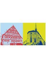 ART-DOMINO® BY SABINE WELZ Esslingen - Kielmeyerhaus + Münster St. Paul