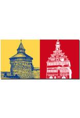 ART-DOMINO® BY SABINE WELZ Esslingen - Dicker Turm + Rathaus