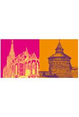 ART-DOMINO® BY SABINE WELZ Esslingen - Dicker Turm + Frauenkirche