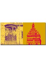 ART-DOMINO® BY SABINE WELZ Esslingen - Kesslerbrunnen + Altes Rathaus