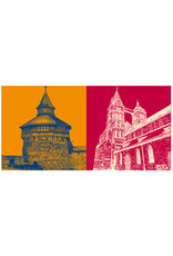 ART-DOMINO® BY SABINE WELZ Esslingen - Dicker Turm + St. Dionysos