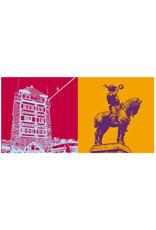 ART-DOMINO® BY SABINE WELZ Esslingen - Schelztorturm + Postmichelreiter