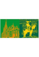 ART-DOMINO® BY SABINE WELZ Esslingen - Frauenkirche + Postmichelreiter