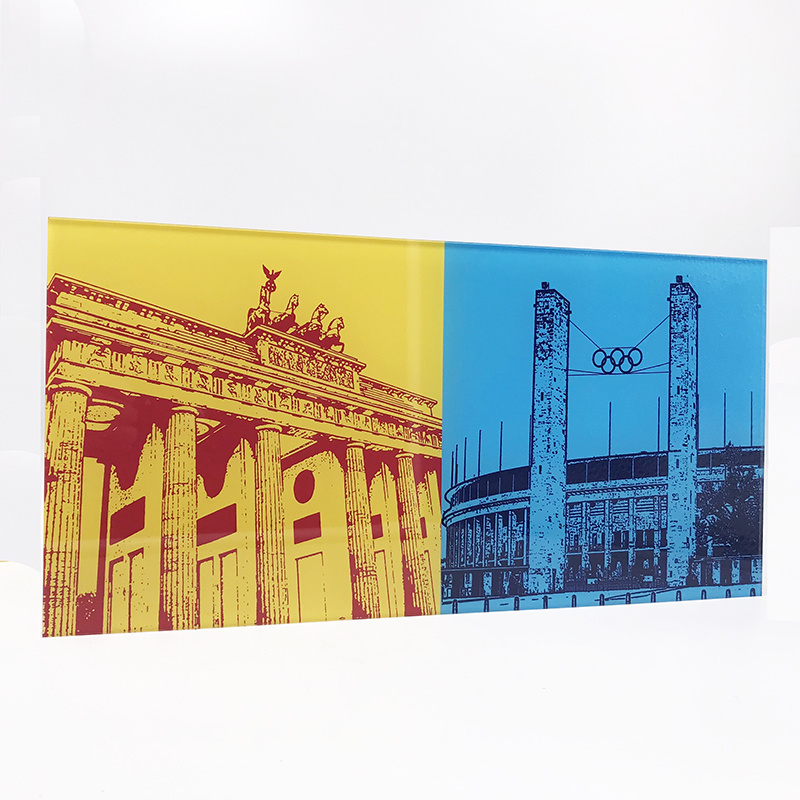 ART-DOMINO® BY SABINE WELZ Berlin - Brandenburg Gate + Olympic Stadium
