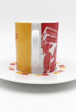 ART-DOMINO® BY SABINE WELZ Berlin Espressotasse 03 - Brandenburger Tor + Goldelse