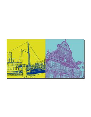 ART-DOMINO® BY SABINE WELZ Flensburg - Alexandra + Eckener Haus