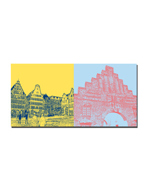 ART-DOMINO® BY SABINE WELZ Flensburg - Suedermarkt + Nordertor
