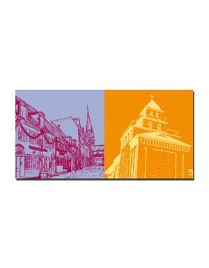 ART-DOMINO® BY SABINE WELZ Flensburg - Rote Strasse + Walzenmühle
