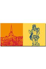 ART-DOMINO® BY SABINE WELZ Flensburg - Blick Ostseite Hafen + Neptun