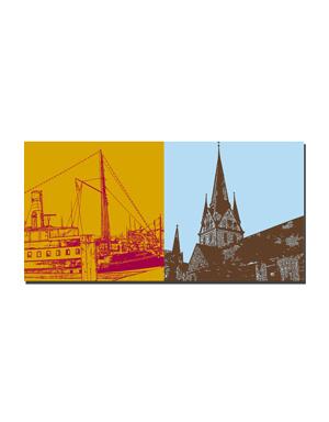 ART-DOMINO® BY SABINE WELZ Flensburg - Alexandra + Nikolaikirche
