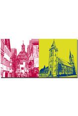 ART-DOMINO® BY SABINE WELZ Öhringen - Altstadtgasse und Altes Rathaus + Stiftskirche