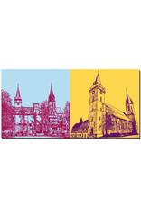 ART-DOMINO® BY SABINE WELZ Öhringen - Öhringer Schloß und Kirchtürme Stiftskirche + Stiftskirche
