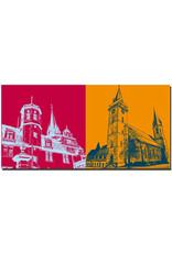 ART-DOMINO® BY SABINE WELZ Öhringen - Schloß Öhringen und Kirchturm + Stiftskirche