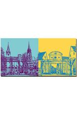 ART-DOMINO® BY SABINE WELZ Öhringen - Öhringer Schloß und Kirchtürme Stiftskirche + Oberes Tor (zur Karlsvorstadt)