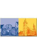 ART-DOMINO® BY SABINE WELZ Öhringen - Oberes Tor (zur Karlsvorstadt) + Stiftskirche