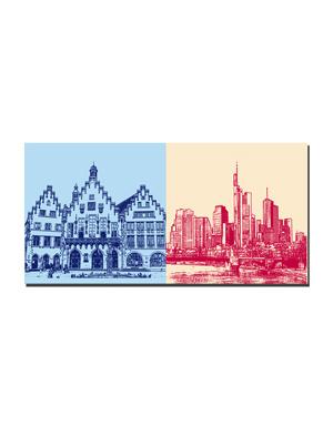 ART-DOMINO® BY SABINE WELZ Frankfurt - Römer + Skyline
