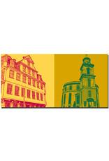 ART-DOMINO® BY SABINE WELZ Frankfurt - Goethehaus + Paulskirche