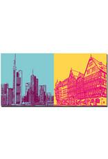 ART-DOMINO® BY SABINE WELZ Frankfurt - Skyline + Am Römerberg
