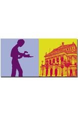 ART-DOMINO® BY SABINE WELZ Frankfurt - Hammering Man + Alte Oper