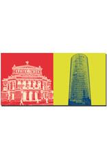 ART-DOMINO® BY SABINE WELZ Frankfurt - Alte Oper + Westhafentower