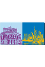 ART-DOMINO® BY SABINE WELZ Frankfurt - Alte Oper + Skyline Skyscraper