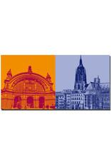 ART-DOMINO® BY SABINE WELZ Frankfurt - Hauptbahnhof + Kaiserdom und Stadthäuser