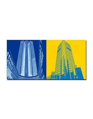 ART-DOMINO® BY SABINE WELZ Frankfurt - Skyscraper 185 + Skysraper Maintower