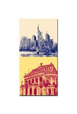ART-DOMINO® BY SABINE WELZ Frankfurt - Skyline Skyscraper + Alte Oper