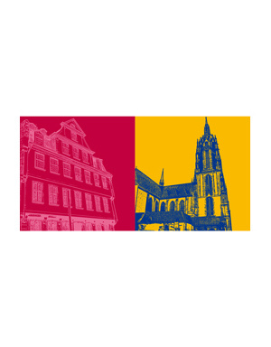 ART-DOMINO® BY SABINE WELZ Frankfurt - Goethehaus + Kaiserdom