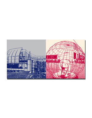 ART-DOMINO® BY SABINE WELZ Freising - Unibibliothek + Bär