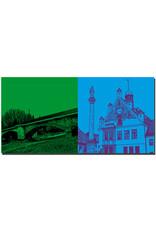 ART-DOMINO® BY SABINE WELZ Freising - Korbinianbrücke + Rathaus