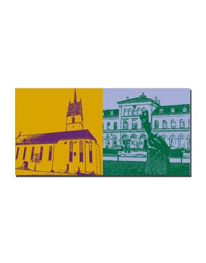 ART-DOMINO® BY SABINE WELZ Friedrichshafen - St. Nikolaus + Stadtbahnhof