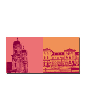 ART-DOMINO® BY SABINE WELZ Friedrichshafen - Schloßkirche + Stadtbahnhof