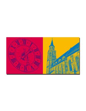 ART-DOMINO® BY SABINE WELZ Fürth - Rathaus Turm-Uhr + St. Michael