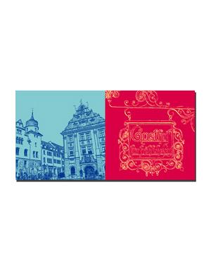 ART-DOMINO® BY SABINE WELZ Gotha - Rathaus/Hauptmarkt + Gasthof Schild