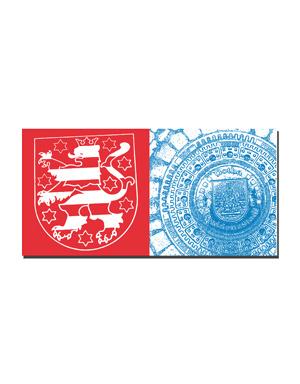 ART-DOMINO® BY SABINE WELZ Gotha - Wappen Freistaat Thüringen + Bodendeckel