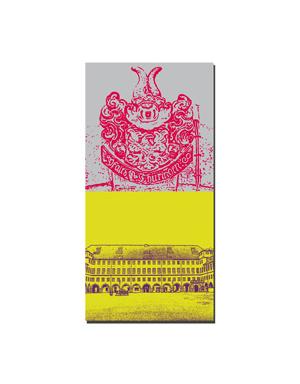 ART-DOMINO® BY SABINE WELZ Gotha - Wappen im Schloßhof + Schloß Friedenstein Hof