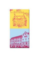 ART-DOMINO® BY SABINE WELZ Gotha - Gasthof Schild + Innungshalle mit Glockenspiel
