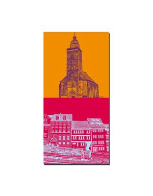 ART-DOMINO® BY SABINE WELZ Gotha - Margarethenkirche, Neuer Markt + Häuser am Hauptmarkt