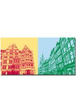 ART-DOMINO® BY SABINE WELZ Hannover - Leibnizhaus + Holzmarkt Richtung Marktkirche