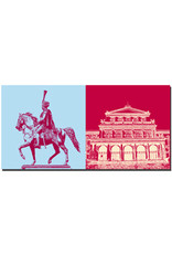ART-DOMINO® BY SABINE WELZ Hannover - Ernst-August-von-Hannover + Staatsoper