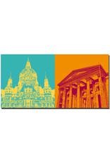ART-DOMINO® BY SABINE WELZ Hannover - Neues Rathaus + Niedersächsischer Landtag