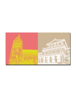 ART-DOMINO® BY SABINE WELZ Hannover - Marktkirche + Staatsoper