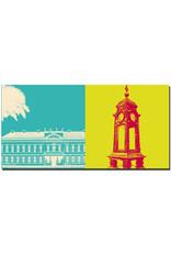 ART-DOMINO® BY SABINE WELZ Hannover - Schloss Herrenhausen + Kröpcke Uhr