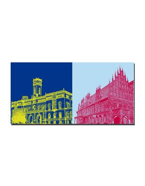 ART-DOMINO® BY SABINE WELZ Hannover - Leibnizuniversität + Altes Rathaus