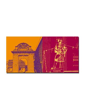 ART-DOMINO® BY SABINE WELZ Hannover - Tor vor Marstall + Lessing auf Oper